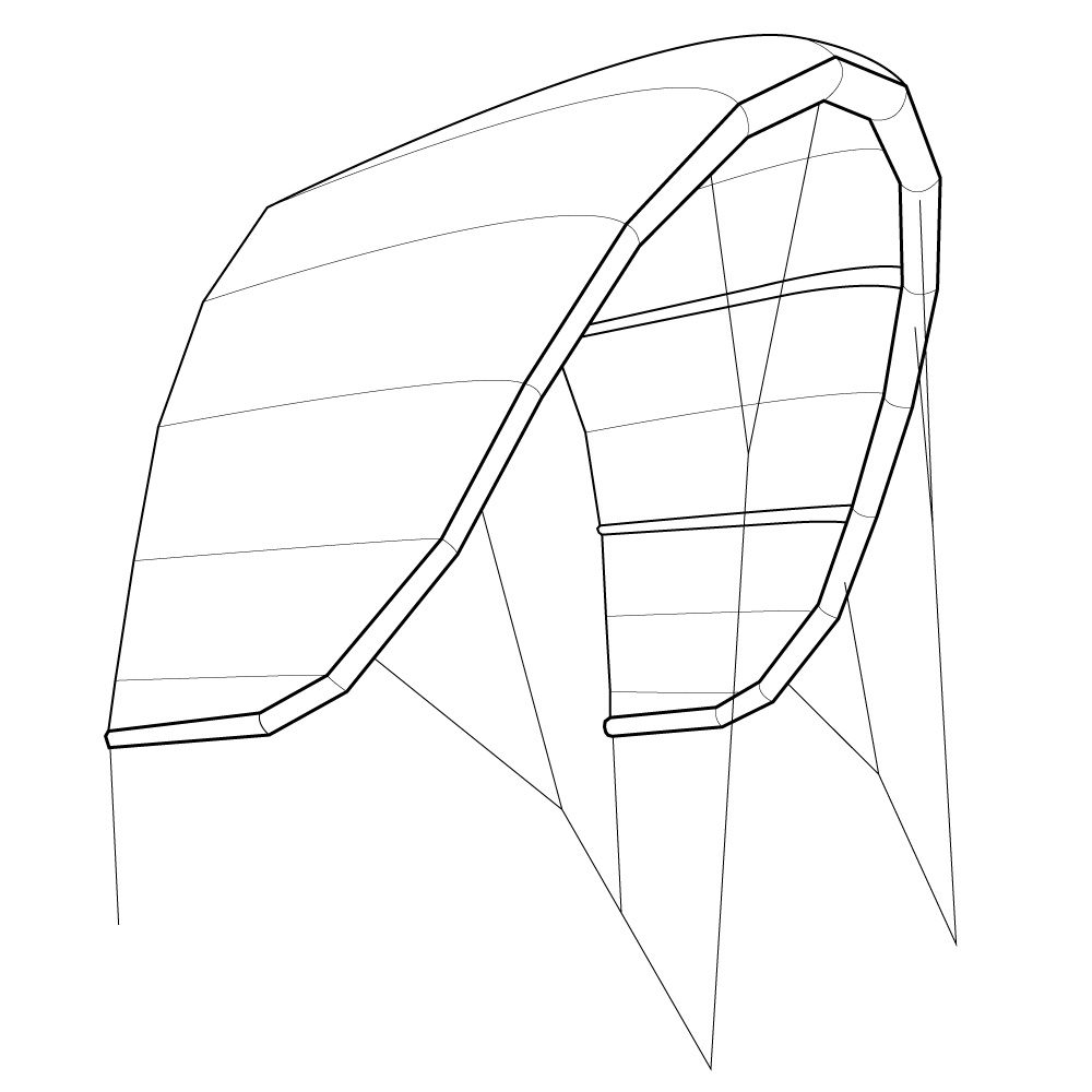Hybridshape Kitesurfen